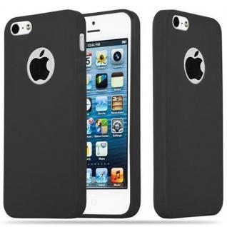 Cadorabo Hülle für Apple iPhone 5 / iPhone 5S / iPhone SE in CANDY SCHWARZ - Handyhülle aus flexiblem TPU Silikon - Silikonhülle Schutzhülle Ultra Slim Soft Back Cover Case Bumper