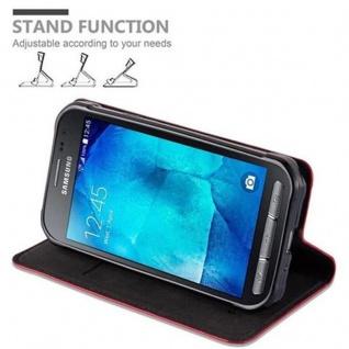 Cadorabo Hülle für Samsung Galaxy XCover 3 in APFEL ROT - Handyhülle mit Magnetverschluss, Standfunktion und Kartenfach - Case Cover Schutzhülle Etui Tasche Book Klapp Style - Vorschau 5