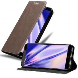 Cadorabo Hülle für ZTE Nubia Z11 MAX in KAFFEE BRAUN - Handyhülle mit Magnetverschluss, Standfunktion und Kartenfach - Case Cover Schutzhülle Etui Tasche Book Klapp Style