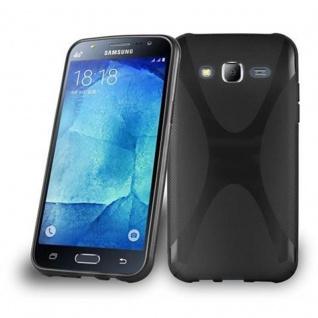 Cadorabo Hülle für Samsung Galaxy J5 2015 in OXID SCHWARZ ? Handyhülle aus flexiblem TPU Silikon ? Silikonhülle Schutzhülle Ultra Slim Soft Back Cover Case Bumper