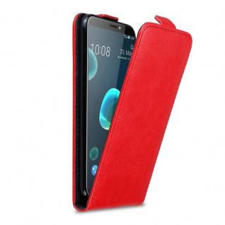 Cadorabo Hülle für HTC Desire 12 PLUS in APFEL ROT - Handyhülle im Flip Design mit Magnetverschluss - Case Cover Schutzhülle Etui Tasche Book Klapp Style