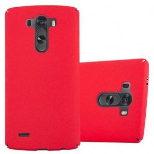 Cadorabo Hülle für LG G3 in FROSTY ROT - Hardcase Handyhülle aus Plastik gegen Kratzer und Stöße - Schutzhülle Bumper Ultra Slim Back Case Hard Cover