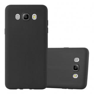 Cadorabo Hülle für Samsung Galaxy J7 2016 in CANDY SCHWARZ - Handyhülle aus flexiblem TPU Silikon - Silikonhülle Schutzhülle Ultra Slim Soft Back Cover Case Bumper