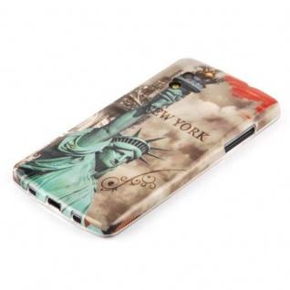 Cadorabo - Hard Cover für LG Google Nexus 5 - Case Cover Schutzhülle Bumper im Design: NEW YORK - FREIHEITSSTATUE - Vorschau 3