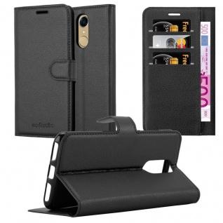 Cadorabo Hülle für Cubot NOTE PLUS in PHANTOM SCHWARZ - Handyhülle mit Magnetverschluss, Standfunktion und Kartenfach - Case Cover Schutzhülle Etui Tasche Book Klapp Style