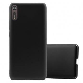 Cadorabo Hülle für Sony Xperia XZ / XZs in METALL SCHWARZ Hardcase Handyhülle aus Plastik gegen Kratzer und Stöße Schutzhülle Bumper Ultra Slim Back Case Hard Cover