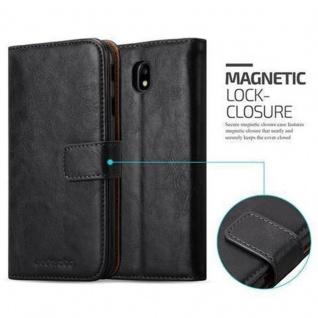 Cadorabo Hülle für Samsung Galaxy J3 2017 in GRAPHIT SCHWARZ ? Handyhülle mit Magnetverschluss, Standfunktion und Kartenfach ? Case Cover Schutzhülle Etui Tasche Book Klapp Style - Vorschau 2