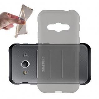 Cadorabo Hülle für Samsung Galaxy XCOVER 3 in TRANSPARENT SCHWARZ - Handyhülle aus flexiblem TPU Silikon - Silikonhülle Schutzhülle Ultra Slim Soft Back Cover Case Bumper