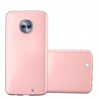 Cadorabo Hülle für Motorola MOTO X4 in METALL ROSÉ GOLD - Hardcase Handyhülle aus Plastik gegen Kratzer und Stöße - Schutzhülle Bumper Ultra Slim Back Case Hard Cover