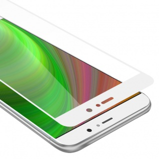 Cadorabo Vollbild Panzer Folie für Xiaomi Mi 5S PLUS - Schutzfolie in TRANSPARENT mit WEISS - Gehärtetes (Tempered) Display-Schutzglas in 9H Härte mit 3D Touch Kompatibilität