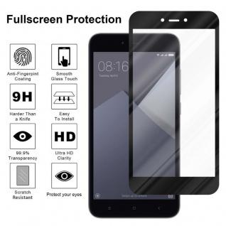 Cadorabo Vollbild Panzer Folie für Xiaomi Red Mi NOTE 5A - Schutzfolie in TRANSPARENT mit SCHWARZ - Gehärtetes (Tempered) Display-Schutzglas in 9H Härte mit 3D Touch Kompatibilität - Vorschau 4