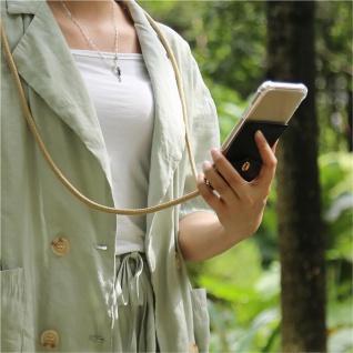 Cadorabo Handy Kette für Honor 20e in GLÄNZEND BRAUN Silikon Necklace Umhänge Hülle mit Gold Ringen, Kordel Band Schnur und abnehmbarem Etui Schutzhülle - Vorschau 3