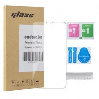 Cadorabo Panzer Folie für Nokia Lumia 530 - Schutzfolie in KRISTALL KLAR - Gehärtetes (Tempered) Display-Schutzglas in 9H Härte mit 3D Touch Kompatibilität