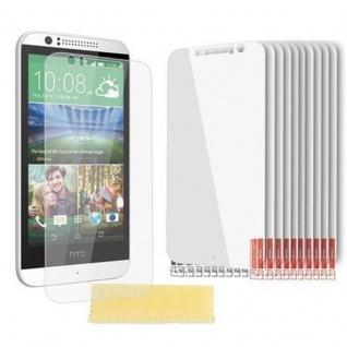 Cadorabo Displayschutzfolien für HTC DESIRE 600 - Schutzfolien in HIGH CLEAR ? 10 Stück hochtransparenter Schutzfolien gegen Staub, Schmutz und Kratzer