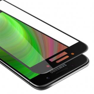 Cadorabo Vollbild Panzer Folie für Samsung Galaxy A7 2017 - Schutzfolie in TRANSPARENT mit SCHWARZ - Gehärtetes (Tempered) Display-Schutzglas in 9H Härte mit 3D Touch Kompatibilität