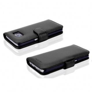 Cadorabo Hülle für Samsung Galaxy S7 EDGE in OXID SCHWARZ ? Handyhülle mit Magnetverschluss und 3 Kartenfächern ? Case Cover Schutzhülle Etui Tasche Book Klapp Style - Vorschau 5