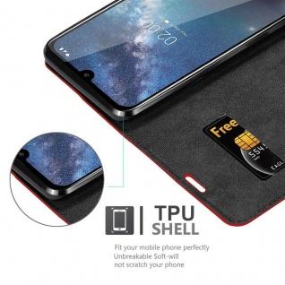 Cadorabo Hülle für Nokia 2.2 in APFEL ROT - Handyhülle mit Magnetverschluss, Standfunktion und Kartenfach - Case Cover Schutzhülle Etui Tasche Book Klapp Style - Vorschau 4