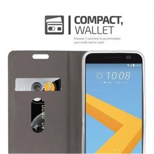 Cadorabo Hülle für HTC 10 (One M10) in HELL GRAU BRAUN - Handyhülle mit Magnetverschluss, Standfunktion und Kartenfach - Case Cover Schutzhülle Etui Tasche Book Klapp Style - Vorschau 3