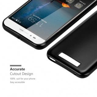 Cadorabo Hülle für ZTE Blade A612 in METALLIC SCHWARZ - Handyhülle aus flexiblem TPU Silikon - Silikonhülle Schutzhülle Ultra Slim Soft Back Cover Case Bumper - Vorschau 5