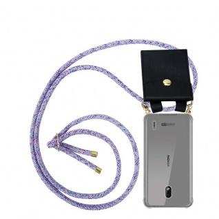 Cadorabo Handy Kette für Nokia 2.2 in UNICORN - Silikon Necklace Umhänge Hülle mit Gold Ringen, Kordel Band Schnur und abnehmbarem Etui ? Schutzhülle