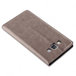 Cadorabo Hülle für Samsung Galaxy A5 2015 in KAFFEE BRAUN - Handyhülle mit Magnetverschluss, Standfunktion und Kartenfach - Case Cover Schutzhülle Etui Tasche Book Klapp Style - Vorschau 5