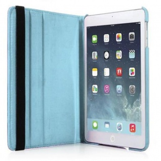 Cadorabo - Apple iPad AIR (5. Generation) Schutzhülle im Book Style mit 360° Standfunktion - Case Cover Bumper in HIMMEL BLAU