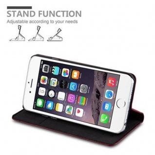 Cadorabo Hülle für Apple iPhone 6 PLUS / iPhone 6S PLUS in APFEL ROT - Handyhülle mit Magnetverschluss, Standfunktion und Kartenfach - Case Cover Schutzhülle Etui Tasche Book Klapp Style - Vorschau 3