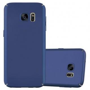 Cadorabo Hülle für Samsung Galaxy S7 in METALL BLAU - Hardcase Handyhülle aus Plastik gegen Kratzer und Stöße - Schutzhülle Bumper Ultra Slim Back Case Hard Cover