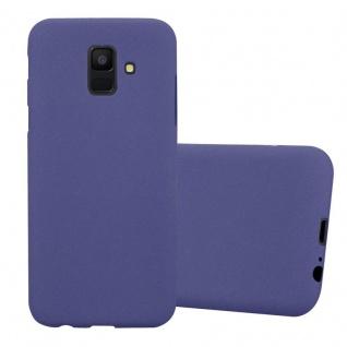 Cadorabo Hülle für Samsung Galaxy A6 2018 in FROST DUNKEL BLAU - Handyhülle aus flexiblem TPU Silikon - Silikonhülle Schutzhülle Ultra Slim Soft Back Cover Case Bumper
