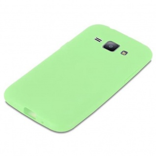 Cadorabo Hülle für Samsung Galaxy J1 2015 in CANDY PASTELL GRÜN - Handyhülle aus flexiblem TPU Silikon - Silikonhülle Schutzhülle Ultra Slim Soft Back Cover Case Bumper - Vorschau 4