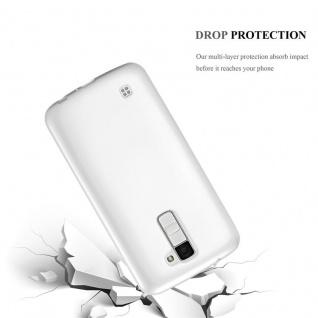Cadorabo Hülle für LG K10 2016 in METALLIC SILBER - Handyhülle aus flexiblem TPU Silikon - Silikonhülle Schutzhülle Ultra Slim Soft Back Cover Case Bumper - Vorschau 3