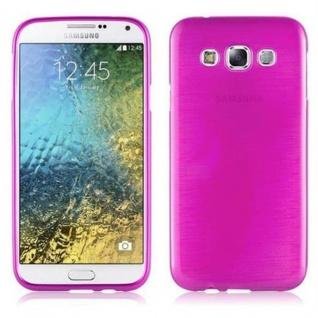 Cadorabo Hülle für Samsung Galaxy E5 2015 in PINK - Handyhülle aus flexiblem TPU Silikon - Silikonhülle Schutzhülle Ultra Slim Soft Back Cover Case Bumper
