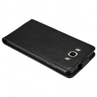Cadorabo Hülle für Samsung Galaxy J7 2016 in NACHT SCHWARZ - Handyhülle im Flip Design mit unsichtbarem Magnetverschluss - Case Cover Schutzhülle Etui Tasche Book Klapp Style - Vorschau 3