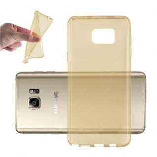 Cadorabo Hülle für Samsung Galaxy NOTE 5 in TRANSPARENT GOLD - Handyhülle aus flexiblem TPU Silikon - Silikonhülle Schutzhülle Ultra Slim Soft Back Cover Case Bumper