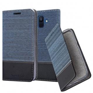 Cadorabo Hülle für Samsung Galaxy A6 2018 in DUNKEL BLAU SCHWARZ - Handyhülle mit Magnetverschluss, Standfunktion und Kartenfach - Case Cover Schutzhülle Etui Tasche Book Klapp Style