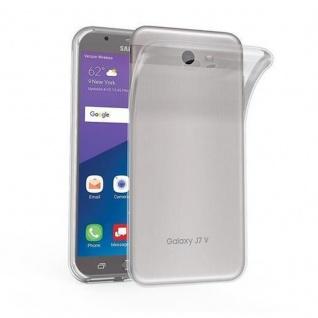 Cadorabo Hülle für Samsung Galaxy J7 2017 US Version in VOLL TRANSPARENT - Handyhülle aus flexiblem TPU Silikon - Silikonhülle Schutzhülle Ultra Slim Soft Back Cover Case Bumper