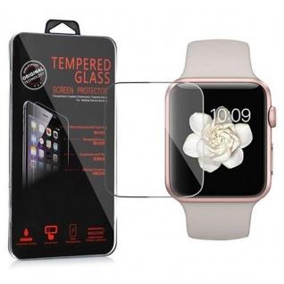 Cadorabo - Gehärtetes (Tempered) Glas Panzerglas Schutzfolie Displayschutzfolie für Apple Watch Series 1 & Apple Watch Series 2 Smartwatch iWatch 42mm Display Schutzglas 0, 3mm abgerundete Kanten ? HOCH-TRANSPARENT