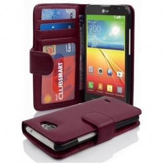Cadorabo Hülle für LG L90 in BORDEAUX LILA - Handyhülle mit Magnetverschluss und 3 Kartenfächern - Case Cover Schutzhülle Etui Tasche Book Klapp Style