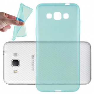 Cadorabo Hülle für Samsung Galaxy GRAND 3 in TRANSPARENT BLAU - Handyhülle aus flexiblem TPU Silikon - Silikonhülle Schutzhülle Ultra Slim Soft Back Cover Case Bumper