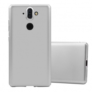 Cadorabo Hülle für Nokia 8 Sirocco in METALL SILBER Hardcase Handyhülle aus Plastik gegen Kratzer und Stöße Schutzhülle Bumper Ultra Slim Back Case Hard Cover