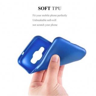 Cadorabo Hülle für Samsung Galaxy J1 2016 in METALLIC BLAU - Handyhülle aus flexiblem TPU Silikon - Silikonhülle Schutzhülle Ultra Slim Soft Back Cover Case Bumper - Vorschau 5