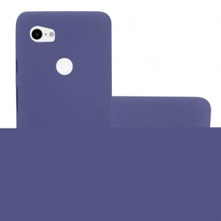 Cadorabo Hülle für Google Pixel 2 XL in FROST DUNKEL BLAU - Handyhülle aus flexiblem TPU Silikon - Silikonhülle Schutzhülle Ultra Slim Soft Back Cover Case Bumper