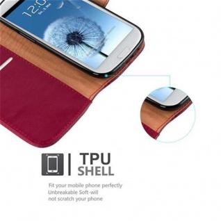 Cadorabo Hülle für Samsung Galaxy S3 / S3 NEO in WEIN ROT ? Handyhülle mit Magnetverschluss, Standfunktion und Kartenfach ? Case Cover Schutzhülle Etui Tasche Book Klapp Style - Vorschau 4