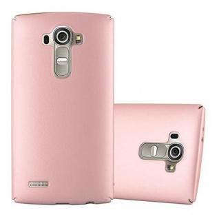 Cadorabo Hülle für LG G4 / G4 PLUS in METALL ROSE GOLD - Hardcase Handyhülle aus Plastik gegen Kratzer und Stöße - Schutzhülle Bumper Ultra Slim Back Case Hard Cover