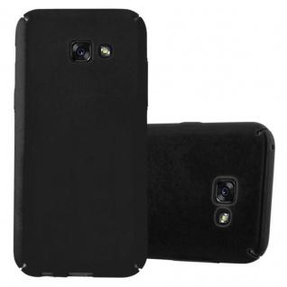 Cadorabo Hülle für Samsung Galaxy A5 2017 in METALL SCHWARZ - Hardcase Handyhülle aus Plastik gegen Kratzer und Stöße - Schutzhülle Bumper Ultra Slim Back Case Hard Cover