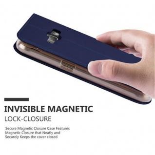 Cadorabo Hülle für Samsung Galaxy J1 2016 in CLASSY DUNKEL BLAU - Handyhülle mit Magnetverschluss, Standfunktion und Kartenfach - Case Cover Schutzhülle Etui Tasche Book Klapp Style - Vorschau 5