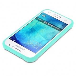 Cadorabo Hülle für Samsung Galaxy J1 ACE in CANDY BLAU - Handyhülle aus flexiblem TPU Silikon - Silikonhülle Schutzhülle Ultra Slim Soft Back Cover Case Bumper - Vorschau 3