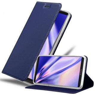 Cadorabo Hülle für Huawei MATE 10 PRO in CLASSY DUNKEL BLAU - Handyhülle mit Magnetverschluss, Standfunktion und Kartenfach - Case Cover Schutzhülle Etui Tasche Book Klapp Style