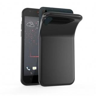 Cadorabo Hülle für HTC Desire 10 LIFESTYLE / Desire 825 in SCHWARZ - Handyhülle aus flexiblem TPU Silikon - Silikonhülle Schutzhülle Ultra Slim Soft Back Cover Case Bumper