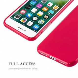 Cadorabo Hülle für Apple iPhone 7 / iPhone 7S / iPhone 8 in JELLY ROT - Handyhülle aus flexiblem TPU Silikon - Silikonhülle Schutzhülle Ultra Slim Soft Back Cover Case Bumper - Vorschau 4